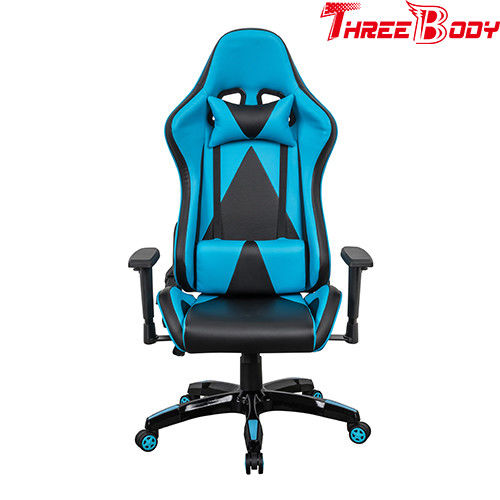 Racing Style High Back PU Leather Office Gaming Chair Ergonomic Style Swivel Chair Headrest Lumbar Support